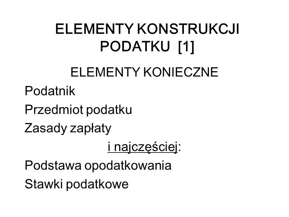 ELEMENTY KONSTRUKCJI PODATKU [1]